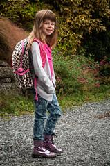 Backpack Ready (Jeff Carlson) Tags: child adams ellie kindergarten firstdayofschool adamselementary jeffcarlson