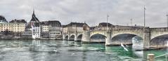 Rheinbrcke HDR-Panorama (stega60) Tags: bridge winter panorama water river switzerland basel brcke mwen hdr martinskirche basle mittlerebrcke rheinbrcke flickrsbest hdrpanorama bestcapturesaoi elitegalleryaoi stega60
