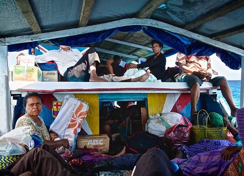 Boat travel between Indonesian islands