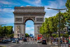 Arc de Triomphe... (Fouad Hajj) Tags: paris france arch place champs arc triomphe charles gaulle lyses triumphal
