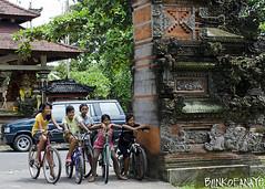 friends (Blinkofanaye) Tags: girls friends bali kids indonesia temple bikes