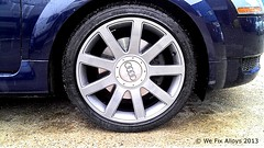"Audi TT alloy wheel refurbished by We Fix Alloys • <a style=""font-size:0.8em;"" href=""http://www.flickr.com/photos/75836697@N06/10378671066/"" target=""_blank"">View on Flickr</a>"
