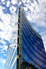 Cloudtower - Berlin (Mdarkbyte) Tags: sky berlin clouds germany deutschland nikon october herbst wolken spiegelung glas fassade hochhaus 2013 d3200