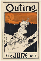 Outing bicycle number for June 1896 (Boston Public Library) Tags: women prints bicyclestricycles bookmagazineposters