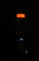 Jack O Lantern Orange Lights Up Bloomberg Tower 7038 (Brechtbug) Tags: 58th new york 2001 city nyc light orange holiday streets b