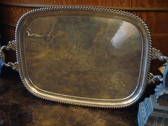 "FUSED PLATE LARGE RECTANGULAR TRAY, C. 1820. • <a style=""font-size:0.8em;"" href=""http://www.flickr.com/photos/51721355@N02/10613615164/"" target=""_blank"">View on Flickr</a>"
