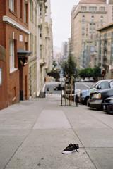 Single (a l e x . k) Tags: street film shoe san francisco pentax lx fa43mmf19