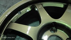 "Rays racing bronze alloy wheel by We Fix Alloys • <a style=""font-size:0.8em;"" href=""http://www.flickr.com/photos/75836697@N06/10678111316/"" target=""_blank"">View on Flickr</a>"