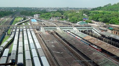 BIRDS EYE VIEW OF NAGPUR RAILWAY STATION (arzankotval2002) Tags: travel india tourism asia adventure entertainment maharashtra machines nagpur indianrailways centralrailway irfca wap4 arzankotval