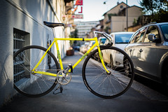 Vivalo Special Pro (Matteo Visentini) Tags: street bike yellow japan glitter 50mm nikon track italia bokeh ace special sparkle turbo fluorescent 7600 pro f18 izumi keirin dura selle fluo nitto shimano campagnolo cred njs streetcred gipiemme kusaka durace 7400 nks vivalo njsexport