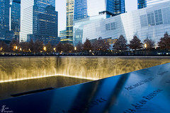 9-11 Memorial South Pool_0021_sig (Fadde Photography) Tags: world park new york waterfall memorial manhattan towers 911 center pools wtc trade