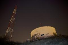 Night shift (osamot) Tags: stars nightshot romania nightsky watertank antenna brasov
