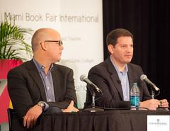 Mark Halperin and John Heilemann (GlobalPhotographyNews) Tags: authors johnheilman miamibookfair billayers georgepacker danbalz jeremyscahill markhalperin