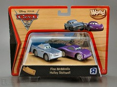 Disney / Pixar ~ FINN MCMISSILE & HOLLEY SHIFTWELL from Cars 2 WOOD COLLECTION Mint In Box by Toys R Us (LUNZERLAND!) Tags: wood luigi toysrus mib woodentoy woodencar lightningmcqueen mintinbox worldgrandprix toysrusexclusive woodcollection finnmcmissile hollyshiftwell