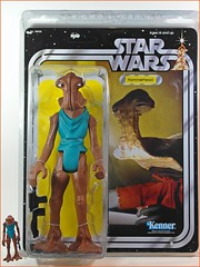 Gentle Giant - Star Wars Vintage Kenner Style Jumbo Figure Series  Hammerhead and the Original Kenner Hammerhead  Front (My Toy Museum) Tags: giant star alien figure wars cantina jumbo gentle hammerhead