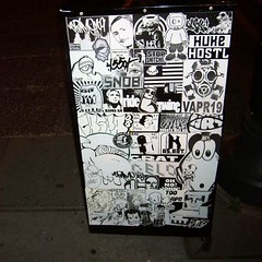 Combo Mega Box (Willy The Fool 33 (><)) Tags: silly philadelphia girl graffiti sticker 33 stickers dash relish philly wtf rwk combo blip cybot uwp catv caspa crime169 ceito synical oder1 selloe