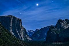 Jupiter Rising - Yosemite National Park (Darvin Atkeson) Tags: california blue usa fall night forest stars landscape rising waterfall nationalpark unitedstates yosemite midnight planet jupiter stary bridalveil elcapitan rises darvin atkeson darv liquidmoonlightcom lynneal starfilled