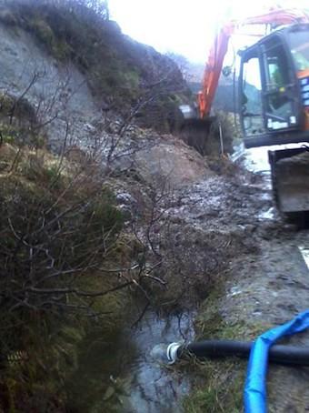 A82 minor landslide