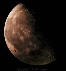 23jan14 lunar vivid (Wyld-Katt) Tags: moon lunar waning