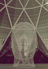 Wonderland, The Bow, Calgary (Teddy Kwok) Tags: portrait sculpture calgary art girl giant head spanish alberta bow wonderland yyc plensa jaume sculptors foremost bentwire 12metretall