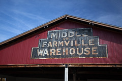 Stuck In The Middle With You (T-3 Photography) Tags: sign architecture canon buildings virginia warehouse farmville va signage 1740mm farmvilleva farmvegas 5dmarkii
