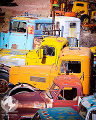 Truck Graveyard (azphotomom37) Tags: arizona canon rusty rusted jerome trucks bigbluemarblephotography