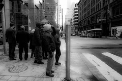 it's.here (jonathancastellino) Tags: street leica urban toronto downtown strangers queen intersection cbd yonge figures centralbusinessdistrict humantraffic