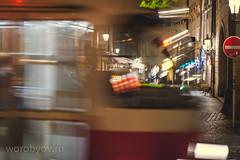 Prague traffic (anton_worobey) Tags: travel streets sign europe prague taxi transport tram 80200