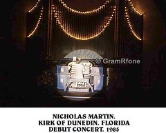 Nicholas Martin. First visit to Kirk of Dunedin. FL. 1985 (2) (gramrfone) Tags: cinema theatre organists