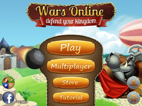 Wars Online - Defend Your Kingdom Main Menu: screenshots, UI