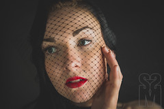 veiled (shawn moreton photography) Tags: red portrait sexy beauty fashion glamour nikon veil style fishnet lips d600