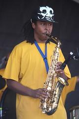Pinstripe Brass Band (2014) 07 - sax player