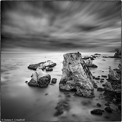 "Dinosaur Caves of Shell Beach II (James A. Crawford - ♪♫♪""Crawf""♪♫♪) Tags: ocean california longexposure wallpaper blackandwhite bw usa white seascape black art beach nature water photoshop landscape blackwhite rocks waves creative 98 textures 101 ripples canoneos soe blackdiamond digitalphotography edges sanluisobispocounty autofocus vpu ndfilter ndfilters greatphotographers creativephotography neutraldensityfilter vle neutraldensity blackwhitephotos cs5 efex innamoramento niksoftware creativedigitalphotography flickraward tonalcontrast blackandwhiteonly neutraldensityfilters creativepostprocessing platinumheartaward gününeniyisithebestofday ononephototools viveza2 ringexcellence silverefexpro2 imageborders"