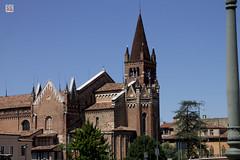 Church of San Fermo (Chiesa di San Fermo) (philippe.Onwire) Tags: italy church europe italia cathedrals verona italie veneto verone gothicstyle santaanastasia sanzenomaggiore churchofsanfermomaggiore