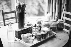 AirBnB (gorbot.) Tags: blackandwhite home breakfast canoneos5d carlzeisszf50mmplanarf14 vscofilm
