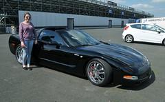 Corvette girl (Fast an' Bulbous) Tags: santa england test hot car bike race speed drag spring pod nikon power may gimp fast testing strip rwyb motorsport santapod acceleration worldcars d300s