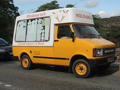 DSCN7409 Molinari Ice Cream Ltd, Chesterfield D451 NDT (Skillsbus) Tags: icecreamvan bedford molinari chesterfield d451ndt cf grindleford derbyshire peakdistrict england yellow white longshaw nationaltrust foxhouse