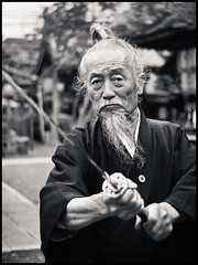 The Last Samurai (Trulsbaerg) Tags: portrait blackandwhite man japan last japanese kyoto traditional samurai select lastsamurai joeokada