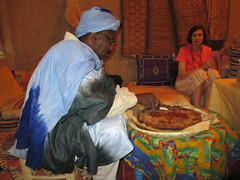 Tafilalt Oasis Stuffed Bread Meal (Meknès-Tafilalet Region, Morocco) (courthouselover) Tags: meals morocco maroc المغرب almaghrib meknèstafilalet tafilaltoasis meknèstafilaletregion régiondumeknèstafilalet