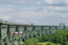 P1690128 (Lumixfan68) Tags: ic eisenbahn db bahn intercity deutsche 218 züge loks baureihe hochdonn marschbahn dieselloks eisenbahnbrücken hochbrücken