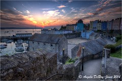 Harbour Path (angeladj1) Tags: church wales sunrise buildings boats coast seaside harbour path pembrokeshire tenby