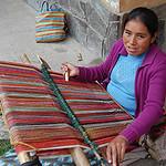Backstrap weaving with alpaca wool