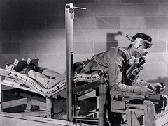 #Prone position pilot bed that was designed in an attempt to lessen pilot fatigue and ease the effects of gravitational forces. 1949. [630 x 475] #history #retro #vintage #dh #HistoryPorn http://ift.tt/2eSMAop (Histolines) Tags: histolines history timeline retro vinatage prone position pilot bed that was designed an attempt lessen fatigue ease effects gravitational forces 1949 630 x 475 vintage dh historyporn httpifttt2esmaop