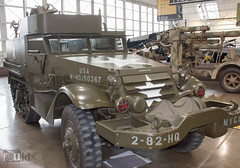 "WHITE M3A1 ""HALF-TRACK"" PERSONNEL CARRIER (fouldsy) Tags: museum aviation flyingheritagecollection airplanes m3a1 halftrack tank ww2 american"