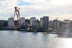 Arriving in Gteborg by ferry (jbdodane) Tags: city crane cycletouring cyclotourisme eriksberg europe freewheelycom goteborg sweden jbcyclingnordkapp