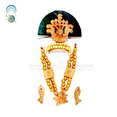 Krishna Shringar,Murti Shringar,Deity Accessories Vedic Vaani (vedicvaani) Tags: mukut krishna shringar set online buy murti accessories deity god goddess ornaments