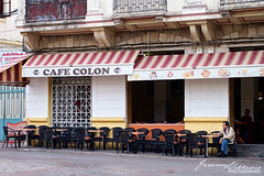 Cafe Colon (jeremyvillasis) Tags: tangier tanger morocco maroc travel northafrica africa medina kasbah street streetphotography people cafe coffeeshop seats man male tea