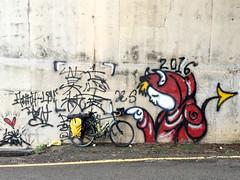 Taichung City, Taiwan (Quench Your Eyes) Tags: love art artist asia biketour graffiti streetart taichungcity taiwan travel wallart