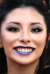 Black Fairy Close Up (wyojones) Tags: texas texasrenaissancefestival toddmission texasrenfest renfest renfaire renaissancefaire faire renaissancefestival festival trf beauty girl woman fairy blackfairy beautiful pretty lovely gorgeous cute brunette browneyes lips