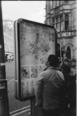 Finding yourself in Manchester (Stuart Grout) Tags: bwfp leica m2 ilford hp5 manchester film map